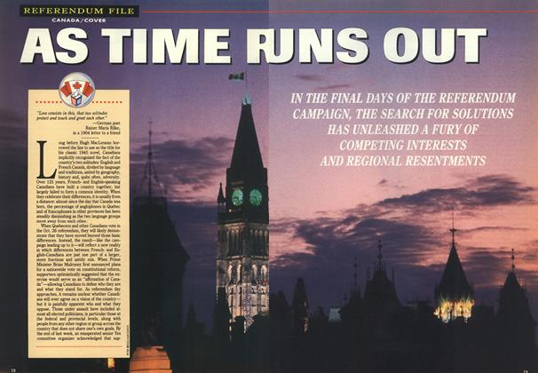 Article Preview: AS TIME RUNS OUT, October 1992 | Maclean's