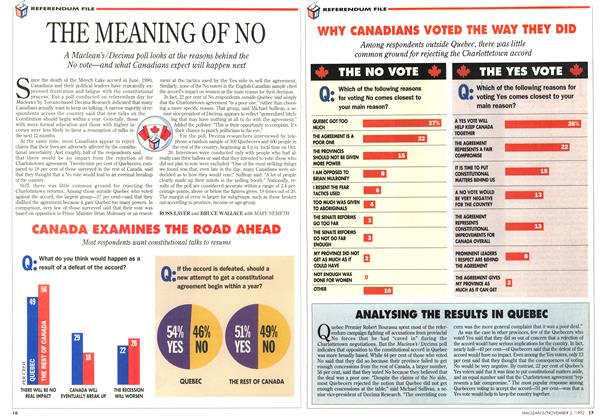 Article Preview: THE MEANING OF NO, November 1992 | Maclean's