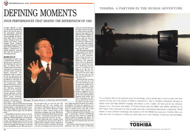 Article Preview: DEFINING MOMENTS, November 1992 | Maclean's