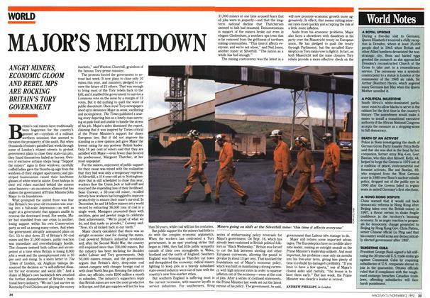 Article Preview: MAJOR'S MELTDOWN, November 1992 | Maclean's