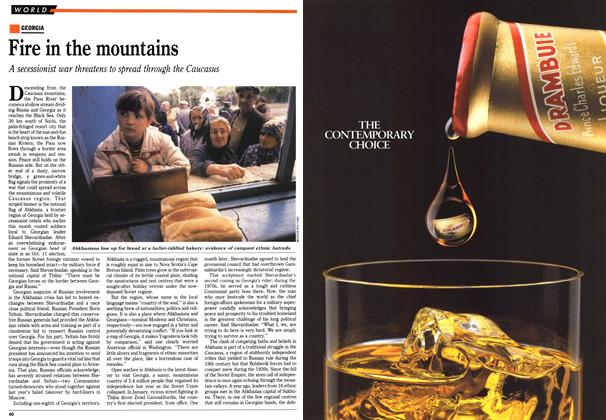 Article Preview: Fire in the mountains, November 1992 | Maclean's