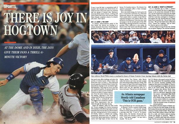 Article Preview: THERE IS JOY IN HOGTOWN, November 1992 | Maclean's
