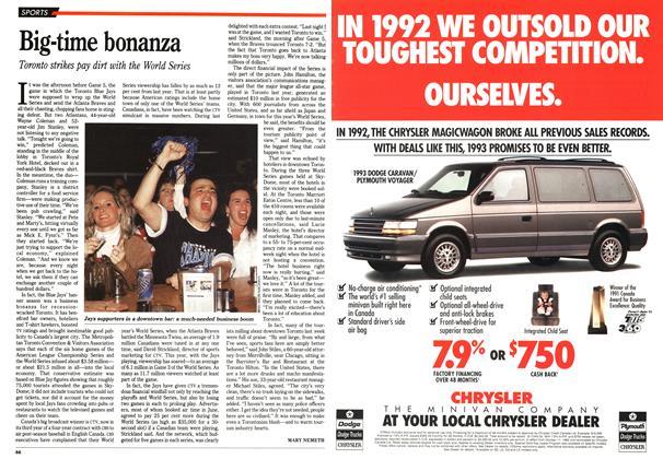 Article Preview: Big-time bonanza, November 1992 | Maclean's