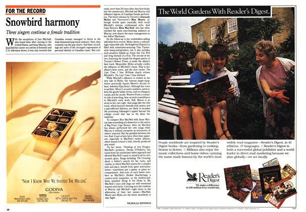 Article Preview: Snowbird harmony, November 1992 | Maclean's