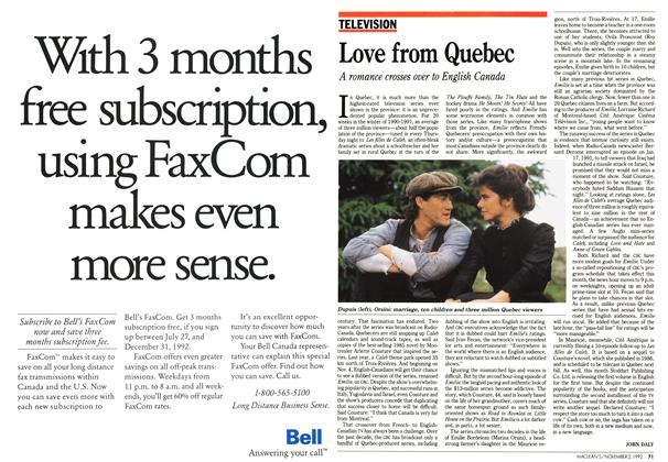 Article Preview: Love from Quebec, November 1992 | Maclean's