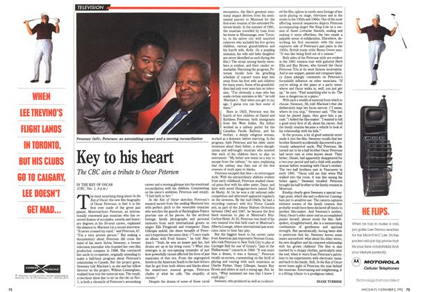 Article Preview: Key to his heart, November 1992 | Maclean's