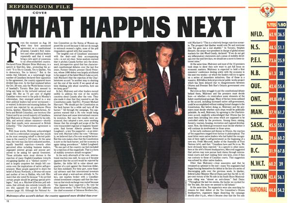 Article Preview: WHAT HAPPENS NEXT, November 1992 | Maclean's