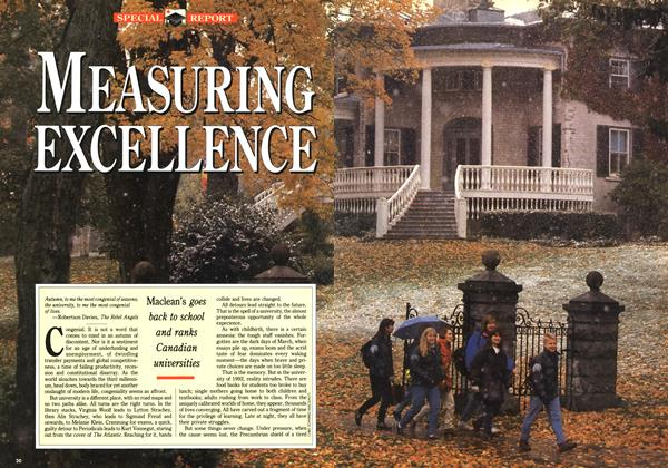 Article Preview: MEASURING EXCELLENCE, November 1992 | Maclean's
