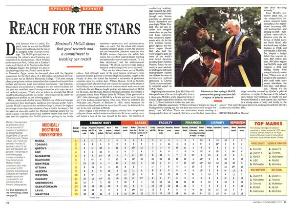 Article Preview: REACH FOR THE STARS, November 1992 | Maclean's
