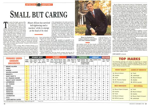 Article Preview: SMALL BUT CARING, November 1992 | Maclean's