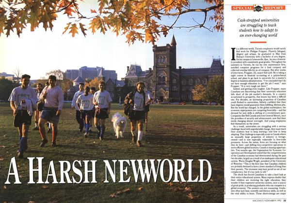 Article Preview: A HARSH NEW WORLD, November 1992 | Maclean's