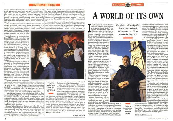 Article Preview: A WORLD OF ITS OWN, November 1992 | Maclean's