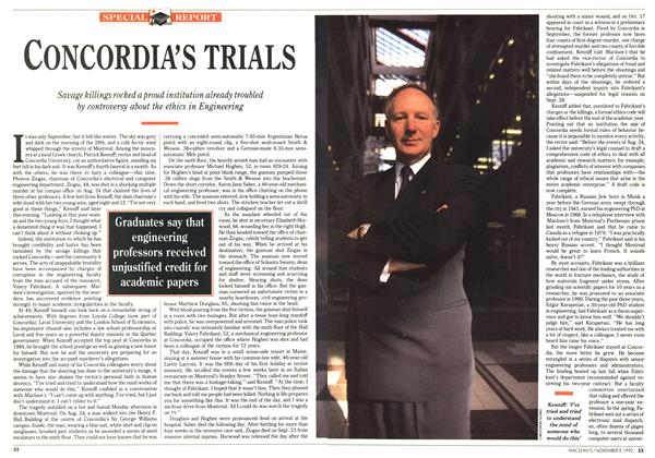 Article Preview: CONCORDIA'S TRIALS, November 1992 | Maclean's