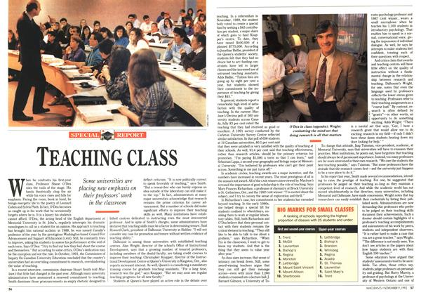 Article Preview: TEACHING CLASS, November 1992 | Maclean's