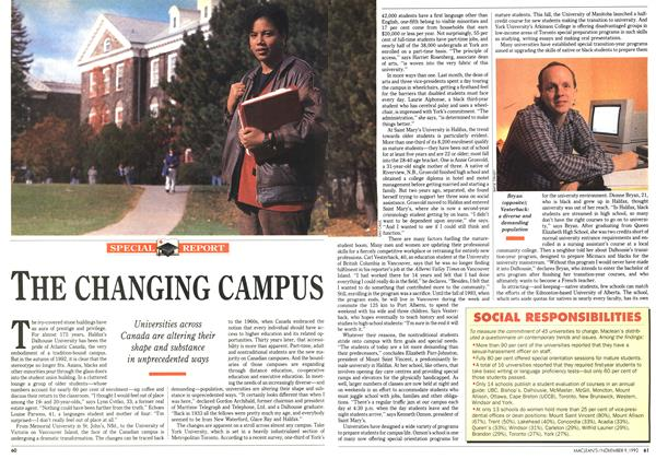 Article Preview: THE CHANGING CAMPUS, November 1992 | Maclean's