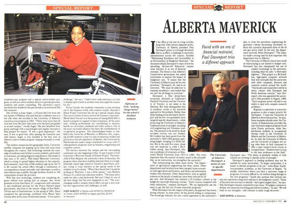 Article Preview: ALBERTA MAVERICK, November 1992 | Maclean's
