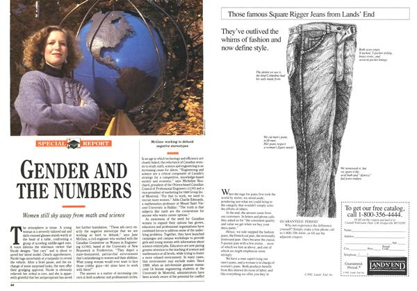 Article Preview: GENDER AND THE NUMBERS, November 1992 | Maclean's