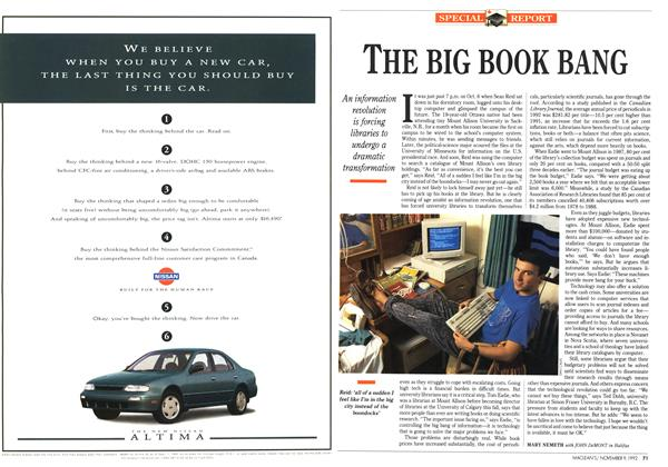 Article Preview: THE BIG BOOK BANG, November 1992 | Maclean's