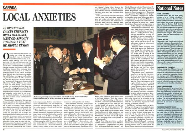 Article Preview: LOCAL ANXIETIES, November 1992 | Maclean's