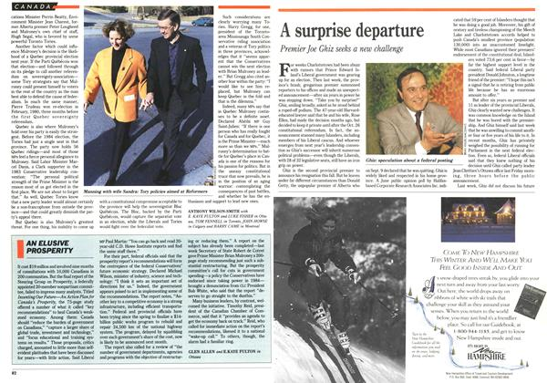 Article Preview: A surprise departure, November 1992 | Maclean's