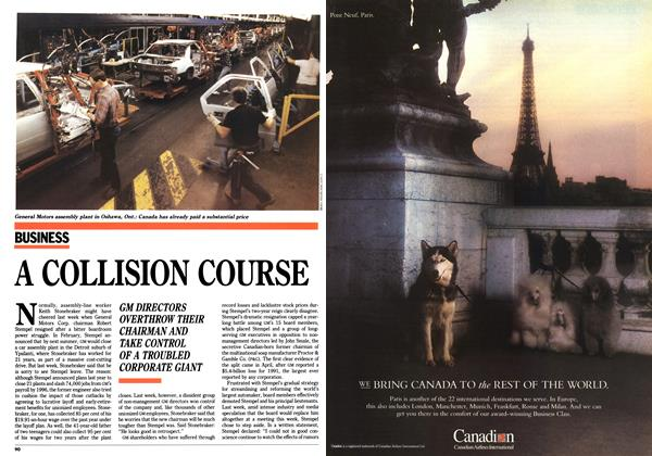 Article Preview: A COLLISION COURSE, November 1992 | Maclean's