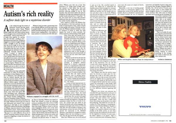 Article Preview: Autism's rich reality, November 1992 | Maclean's