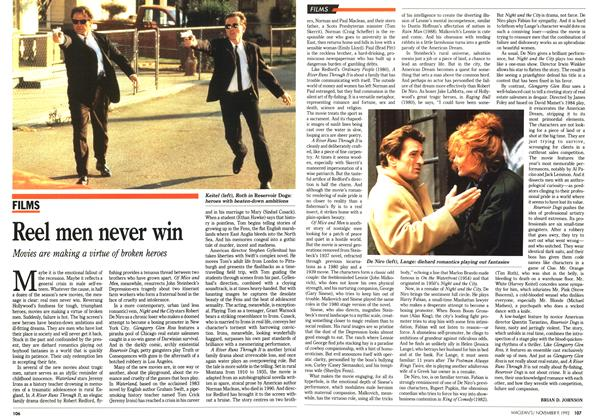 Article Preview: Reel men never win, November 1992 | Maclean's