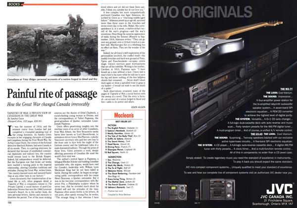 Article Preview: Painful rite of passage, November 1992 | Maclean's