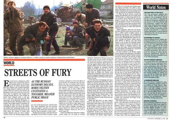 Article Preview: STREETS OF FURY, November 1992 | Maclean's