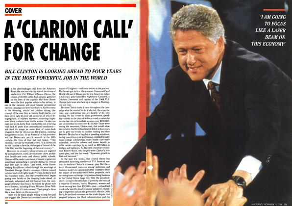 Article Preview: A 'CLARION CALL' FOR CHANGE, November 1992 | Maclean's