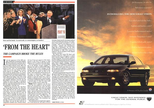 Article Preview: 'FROM THE HEART', November 1992 | Maclean's