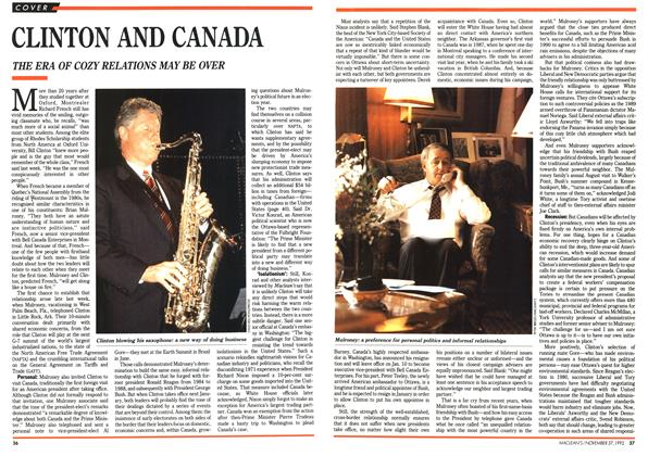 Article Preview: CLINTON AND CANADA, November 1992 | Maclean's