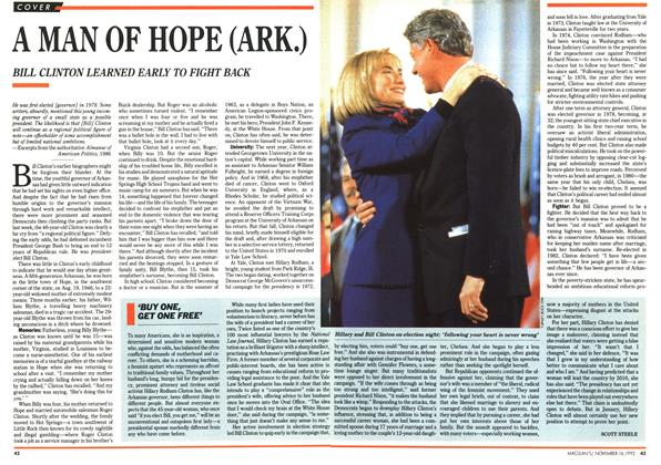 Article Preview: A MAN OF HOPE (ARK.), November 1992 | Maclean's