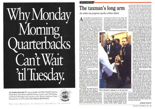 Article Preview: The taxman's long arm, November 1992 | Maclean's