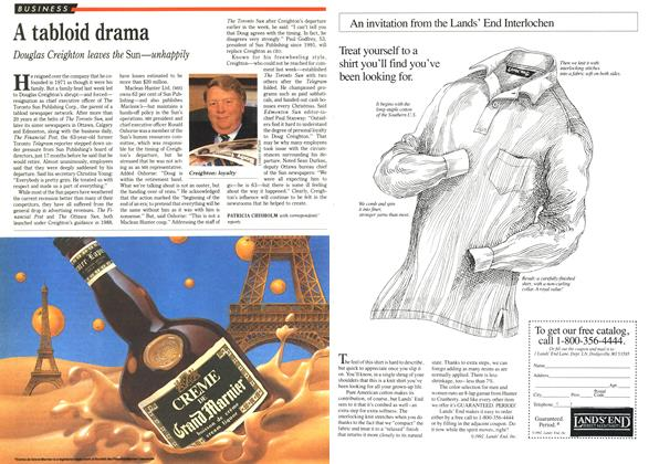 Article Preview: A tabloid drama, November 1992 | Maclean's