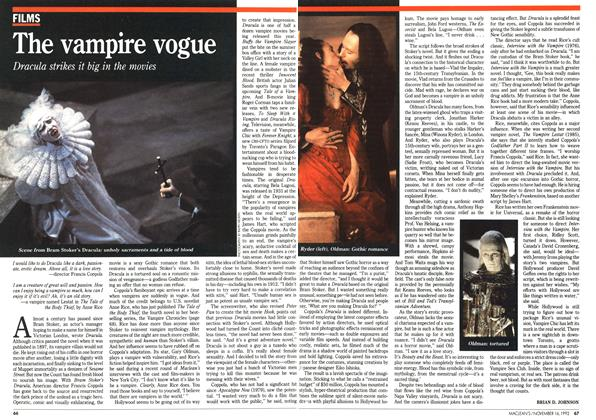 Article Preview: The vampire vogue, November 1992   Maclean's