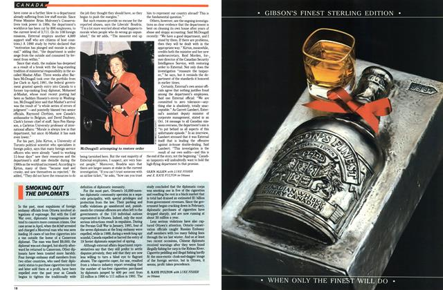 Article Preview: SMOKING OUT THE DIPLOMATS, November 1992 | Maclean's