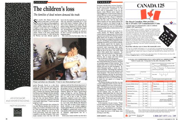 Article Preview: The children's loss, November 1992 | Maclean's