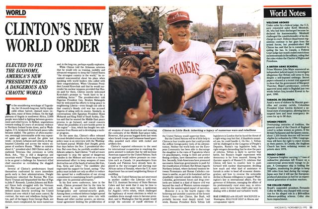 Article Preview: CLINTON'S NEW WORLD ORDER, November 1992 | Maclean's