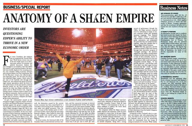 Article Preview: ANATOMY OF A SHAKAN EMPIRE, November 1992 | Maclean's