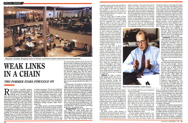 Article Preview: WEAK LINKS IN A CHAIN, November 1992 | Maclean's