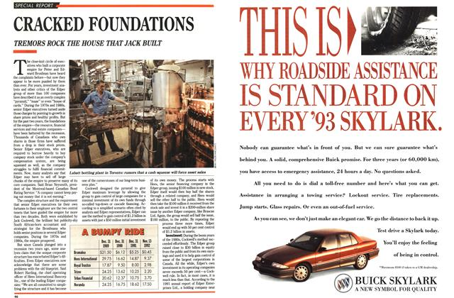 Article Preview: CRACKED FOUNDATIONS, November 1992 | Maclean's
