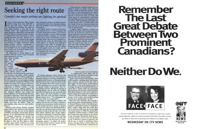 Article Preview: Seeking the right route, November 1992 | Maclean's