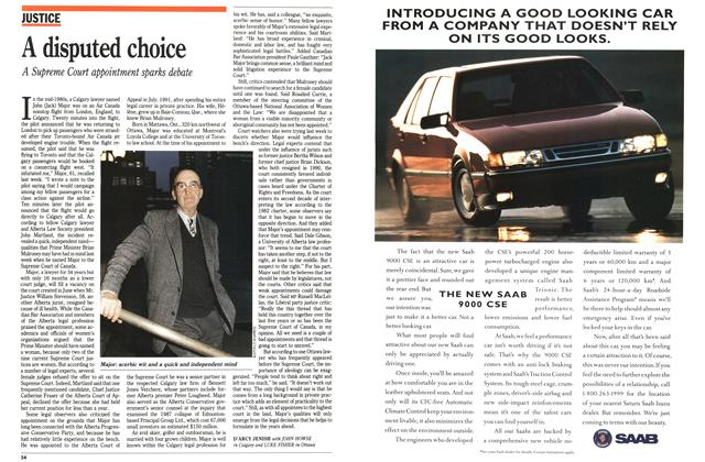 Article Preview: A disputed choice, November 1992 | Maclean's