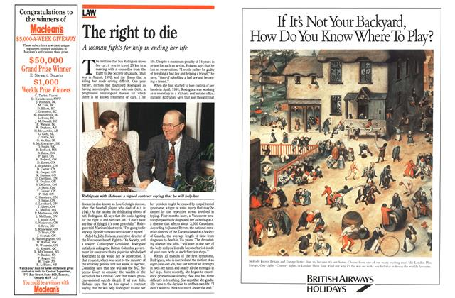 Article Preview: The right to die, November 1992 | Maclean's