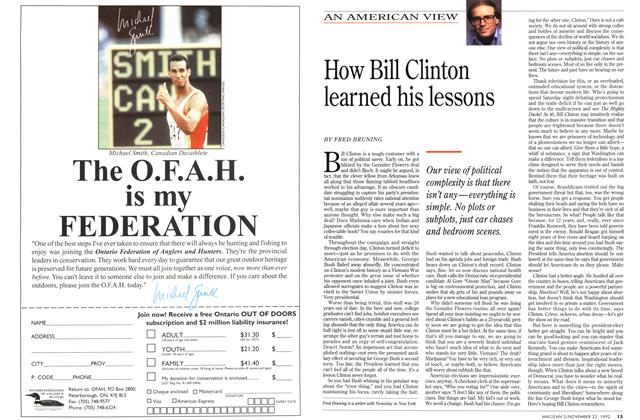 Article Preview: How Bill Clinton learned his lessons, November 1992 | Maclean's