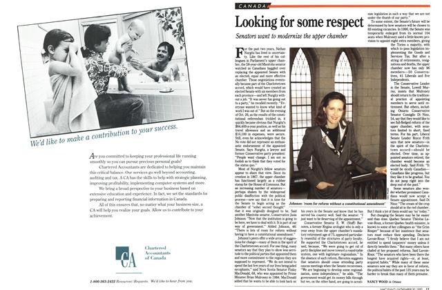 Article Preview: Looking for some respect, November 1992 | Maclean's