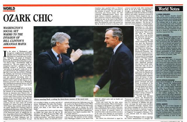 Article Preview: OZARK CHIC, November 1992 | Maclean's