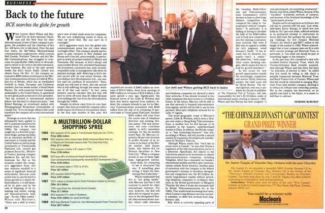 Article Preview: Back to the future, November 1992 | Maclean's