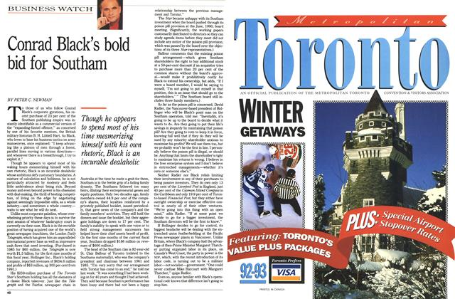 Article Preview: Conrad Black's bold bid for Southam, November 1992 | Maclean's